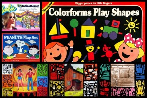 Colorforms, the vintage vinyl stick-on playsets that let kids stage scenes, create comics & dress dolls