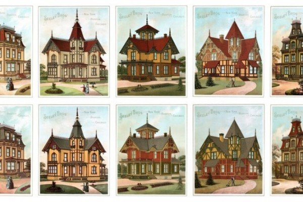 Vintage home exteriors: 18 colorfully-painted Victorian houses (1886)