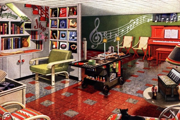 Retro rooms: See these 12 themed vintage basement remodels, from the wacky to the wonderful (1948)