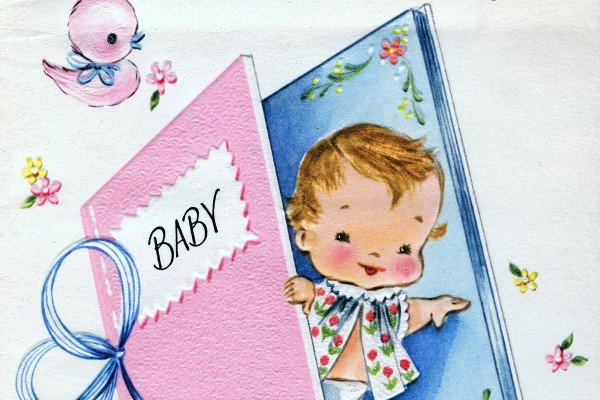 Congrats on your baby girl: Vintage greeting cards from 1969