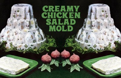 Creamy chicken salad mold: A really retro recipe from 1965