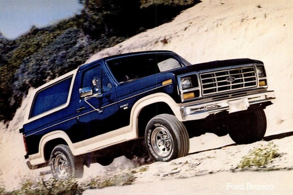 These were the Eddie Bauer edition Ford Bronco & Bronco II SUV/trucks from the '80s