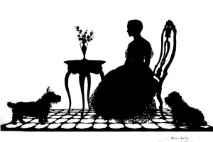 See 11 amazing hand-cut antique silhouette paper portraits from the 1920s