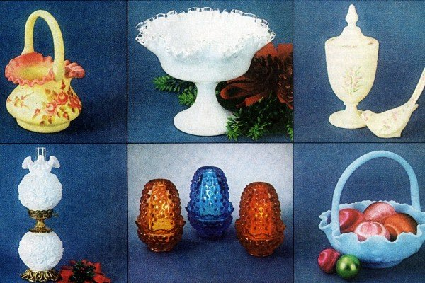 Fancy vintage Fenton art glass from the 1960s 1970s