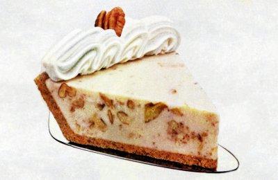 Frozen pecan pie