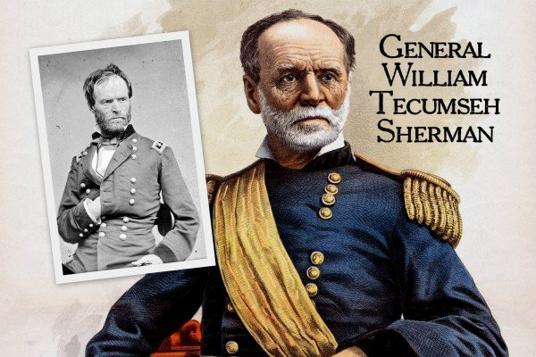 How famed Civil War General William Tecumseh Sherman was remembered, for better and for worse