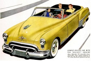Get ready for Oldsmobile's 'new thrill' – Futuramic cars from the late '40s