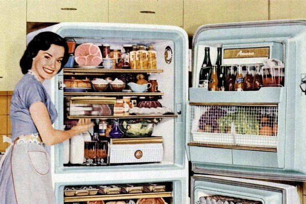 How to be a perfect '50s housewife: Love your refrigerator!