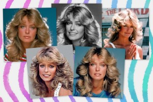 How to get Farrah Fawcett's famous long feathered hairstyle from the '70s