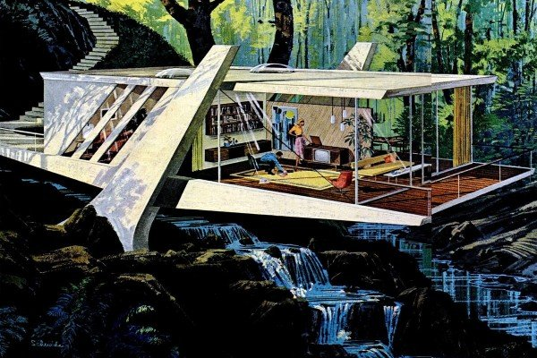 20 stunning space-age retro futuristic home concepts from the '60s