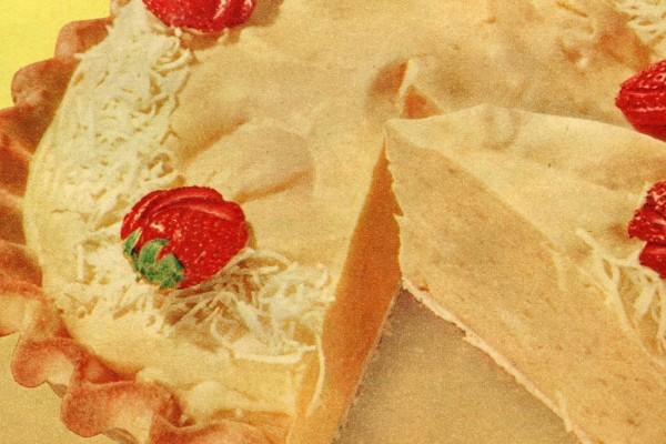 Lemonade chiffon pie with lemonade crust recipe (1956)