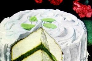 Lime delight cake retro recipe (1948)