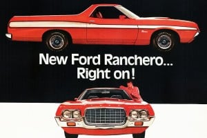 Look back at the old Ford Ranchero pickup trucks from the '50s, '60s & '70s