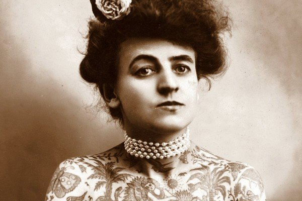 The Tattooed Lady: Maud Wagner & husband Gus became 1900s circus stars for their old-school tats
