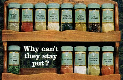 Remember these old McCormick-Schilling spice racks from the '60s?