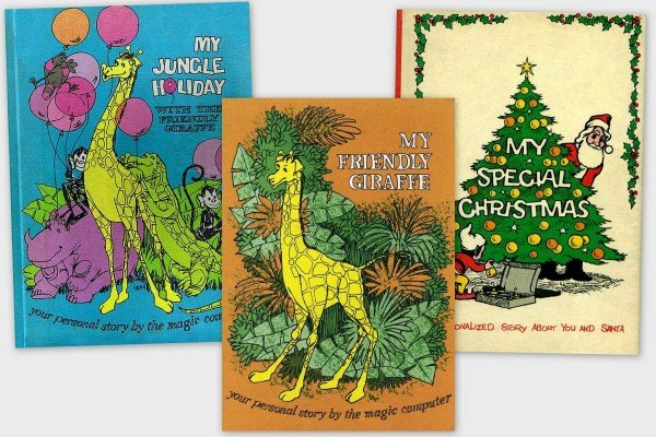Me Books: Cute vintage computer-personalized storybooks from the seventies, including My Friendly Giraffe