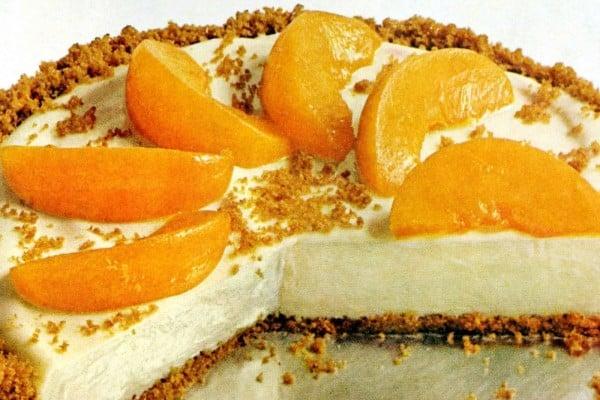 No-bake peachy cheesecake recipe (1968)
