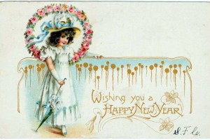 Happy New Year! A look back at 40 elegant vintage postcards