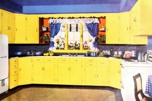 31 retro yellow kitchens from yesteryear: Sunny midcentury home decor
