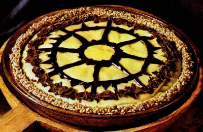 Peanut butter chiffon pie with pretzel crust & a black-bottom peanut butter chiffon pie (1972)