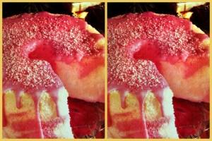 Peppermint marble angel cake retro recipe (1990)
