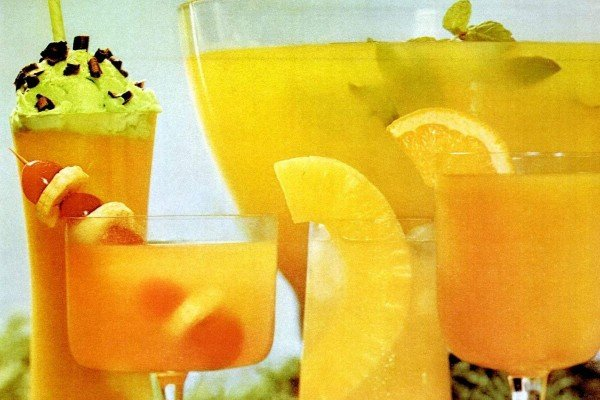 Pineapple juice retro recipes and more