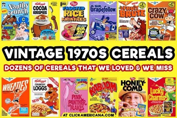 Popular vintage 1970s cereals