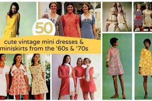 50+ cute vintage mini dresses & miniskirts from the '60s & '70s