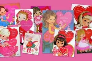 These retro Hallmark Valentine cards from the '70s were super cute & super pink & super girly