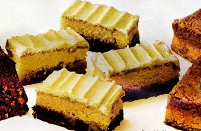 Retro fall dessert recipes: Pumpkin pie bars, Coconut choco-swirl cake & Date bar cake (1971)
