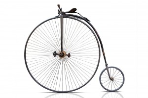 Why people used to really love those iconic high-wheel penny-farthing bicycles
