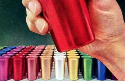 See some iconic retro Colorama aluminum tumblers & vintage drinkware from the '50s & '60s