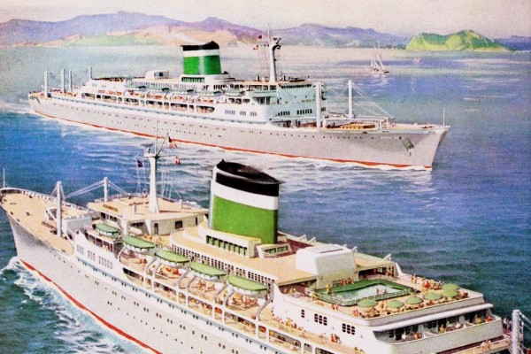 See old cruise ships & ocean vacations from the '30s through the '60s
