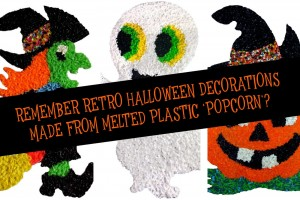 See the retro melted plastic popcorn Halloween decorations popular in the '70s