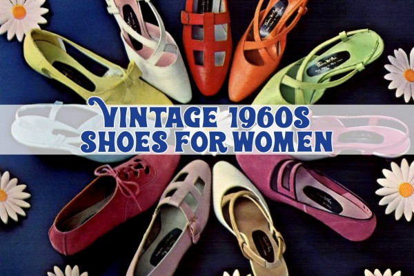 These vintage 1960s shoes for women were fashionable & far out