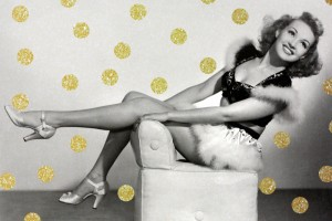 See vintage pin-up Betty Grable and her famous legs