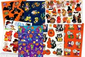 Spooky stickers: 16 vintage Halloween sticker sheets from the seventies & eighties