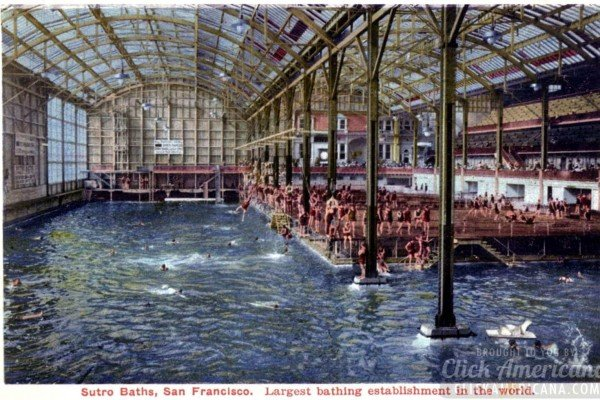 San Francisco's Victorian marvel: The huge swimming pools at Sutro Baths