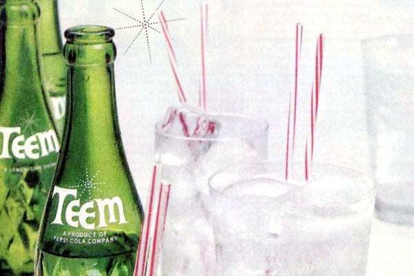 Teem soda The crystal-clear lemon-lime soft drink