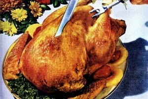 What did people have for Thanksgiving dinner years ago? Take a look back at some traditional holiday menus