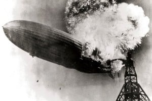 See how the huge airship Hindenburg exploded and fell: 'Oh, the humanity!' (1937)