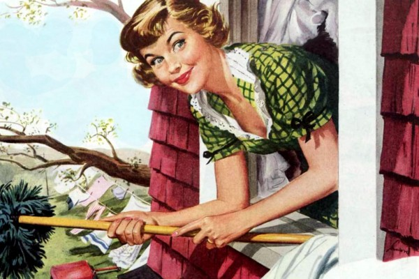 How to be a perfect '50s housewife: Cleaning your home