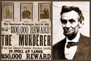The wanted poster with a $100,000 reward for catching President Lincoln's killer (1865)