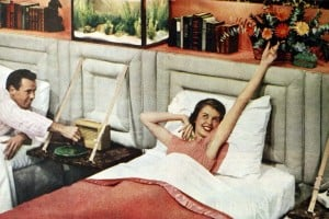 Two single beds for married couples from the 1950s (13)