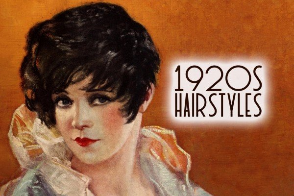 Popular vintage 1920s hairstyles for women, including the classic bob haircut