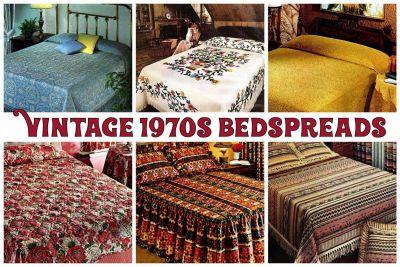 Vintage 1970s bedspreads