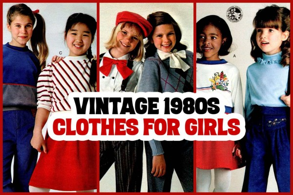 Vintage '80s clothes for girls