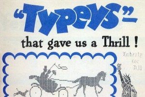 Vintage ASCII art from the 1930s: Typeys, made with old manual typewriters