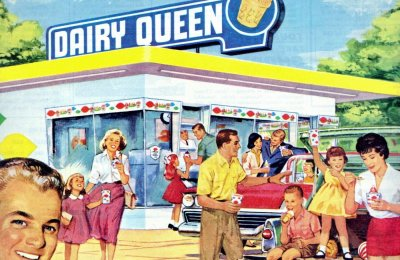 Old-fashioned Dairy Queen shops from the '50s