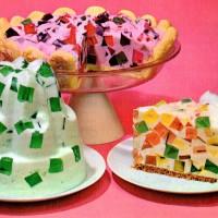 Jell-O Crown Jewel/Window Glass retro desserts (1960s)